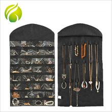 Hot sale women 32 pockets 18 hook loops non-woven organizer holder jewelry storage organization bags