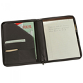 Black/Brown PU or Genuine Leather Business Men Portfolio with Writing Notepad