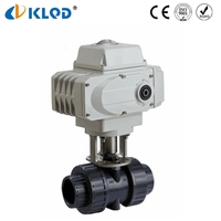 UPVC 2 Way Electric Motorized Valve Flow Control Ball Valve Plastic Shutoff Valves