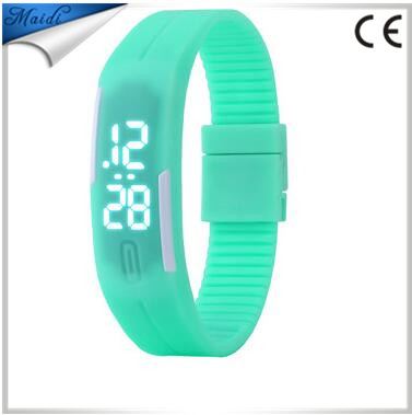 Women Fashion Men Candy Silicone Touch Rubber LED Sports Bracelet Digital Wrist Watches relojes LMW-6