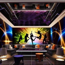 high quality interior <strong>design</strong> 3d hd wallpaper mural for Restaurant Clubs KTV Bar printed Wall paper