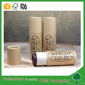 biodegradable lip balm tubes push up paper tube for lip balm eco friendly wax paper inside lipstick tube with custom logo print