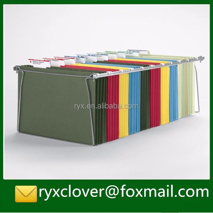 Colorful A4 paper movable document holder/a4 hanging paper folder