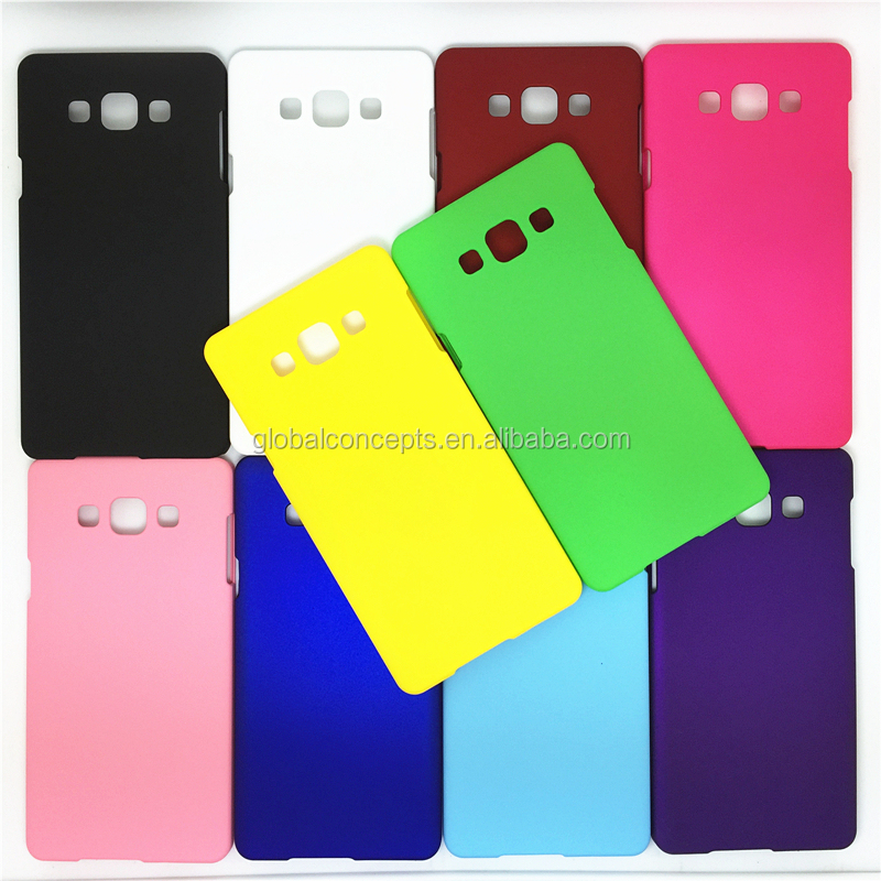 Colorful Rubber Oil Matte Hard Cover Case For Samsung GALAXY A8 A8000