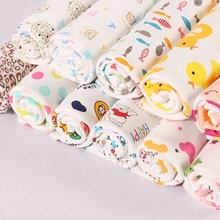 new design healthy custom cartoon print interlock cotton baby wholesale clothing fabric