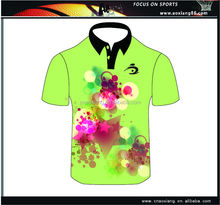 3d embroidery printed elegant neck design custom polo t shirt