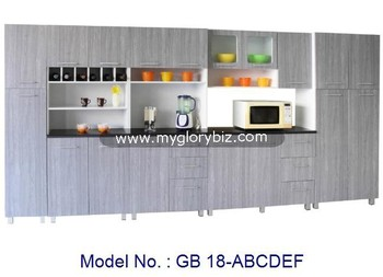 Big Combination Modern Kitchen Cabinet Set For Large Storage With Drawers For Indoor Home Furniture With Cheap Price
