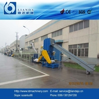 pp woven bags recycling machine