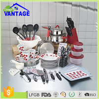 High quality 90pcs stainless steel housewares kitchenware nonstick cookware sets