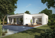 2015 new small villa with loft in Chille with steel frame+French window