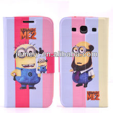 for Samsung galaxy s3 Despicable Me wallet leather case