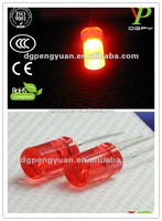ultra bright top quality 5mm flat top 630nm red led diode