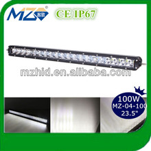 "2017 new product Led bull 100W led light bar for snowmobile CRE E 23.5"" for truck super slim single row auto led light"