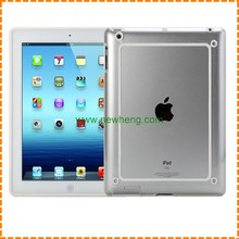 Wholesale Candy Color TPU Bumper Crystal Transparent case for ipad mini 1/2/3