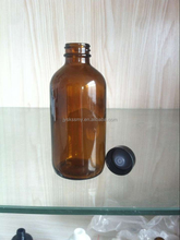 4OZ Amber clean Color boston Glass Essential Oil Bottles