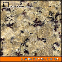 eson stone polished butterfly yellow granite with low price