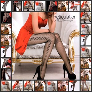 Black seamless Pattern Nylon Pantyhose fishnet tights