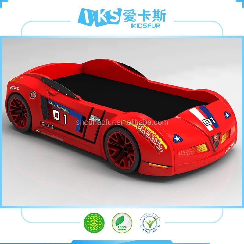 2016 new design wooden kids cartoon bed car bed