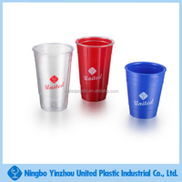 assorted color plastic refill solo tumbler beer pong cup for cold and warm drinks
