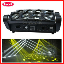 WLED 1-14 New 8 pcs 4 IN 1 RGBW (WHITE) 10W leds beam spider light mini moving head quad