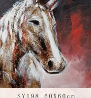 2015 horse head painting abstract horse painting