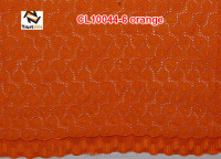Low price african orange swiss voile embroidery lace of CL10044-6 orange