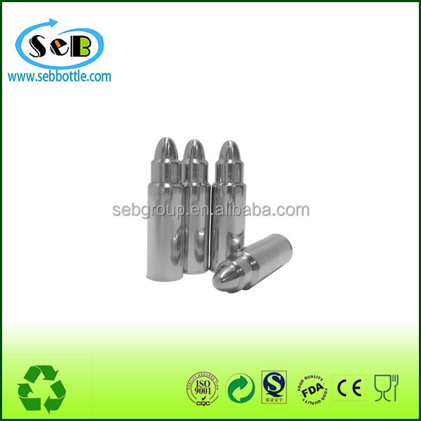 Reusable Bullet Shaped Stainless Steel Whiskey Stone