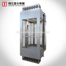 ZhuJiangFuJi Brand Panoramic Glass Elevator Lift Producing