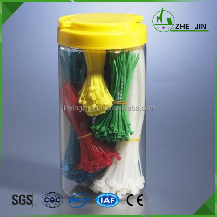 Zhe Jin Hot Sale ROHS Certificated Custom Colored DIY Package Plastic Cable Ties
