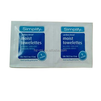 Anti-bacterial moisturizing formula with aloe scented most towelette