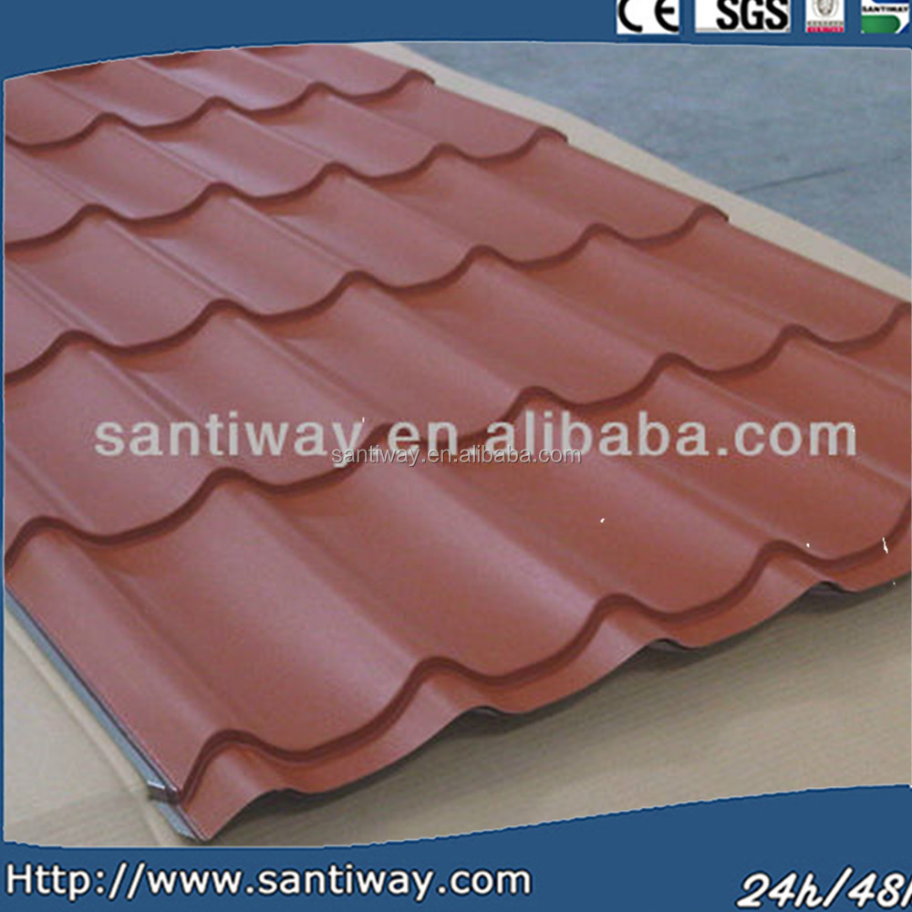 popular classic colorful stone coated metal roofing tile / metal corrugated tile roofing/Stone Chip Coated Metal Roof Tile sheet