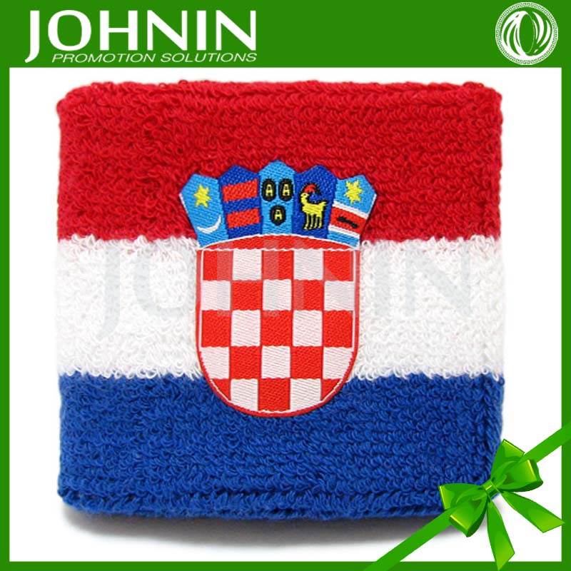 OEM logo customized TC embroideried all country flag wristbands