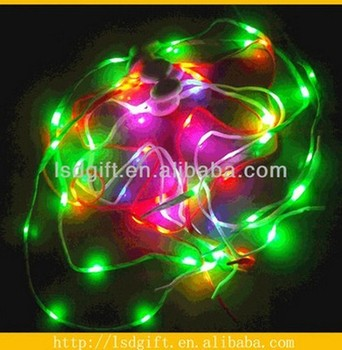 Led shoelaces in roll flashing in dark colorful shoelace for holiday
