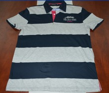 Striped polo t-shirt with the factory price