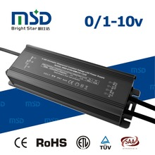 0-10V pwm dimmable led driver 100W waterproof Constant Voltage dc 12V 24V power supply