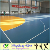 bright color pvc floor Best Price Indoor basketball Anti-slip PVC Sports Flooring In Roll