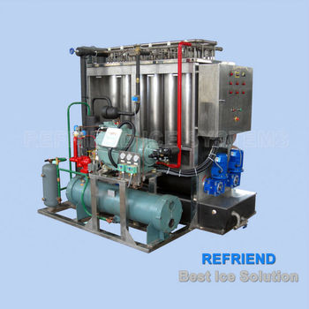 New Plate Ice Making Plant With Refrigeration Unit