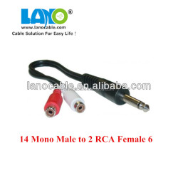 Fashion hot sales 2 rca to 3.5mm audio cable with fast delivery date