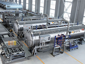 ASME certificated canned meat retort sterilizer production line