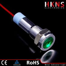 High quality 6mm Green LED indicator light waterproof pilot light