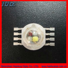 Four chip 1w 2w 3w 8w 12w RGBA led( RED GREEN BLUE AMBER)