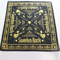 Sweden rock bandana, custom artwork printed bandana, cotton Bandana Scarf