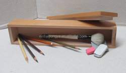 Factory Price Wooden Pencils Packaging Box,Pine Wood Art Brush Storage Case