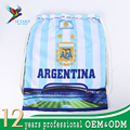 Hot sales Argentina national full color satin custom promotional drawstring bags