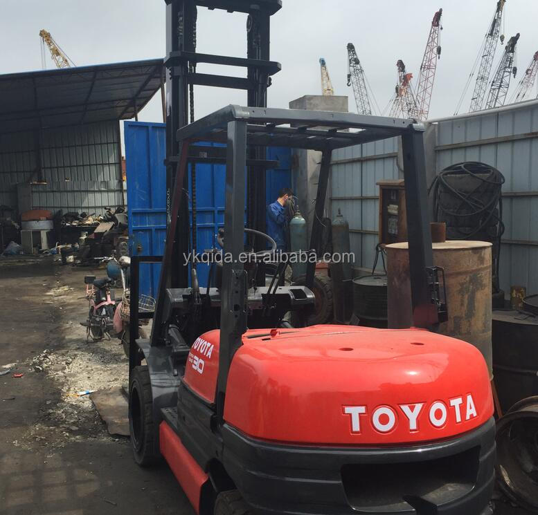 Used toyota forklift truck 3ton 6FD30, High stage second-hand Japanese forklift 3ton