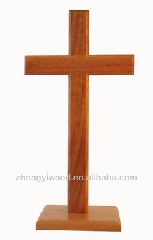 Sale christian cross church standing cross wholesale buy for Wooden craft crosses wholesale