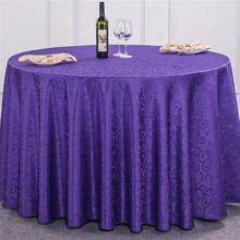 fancy purple round wedding table overlays cloth table cover for sale