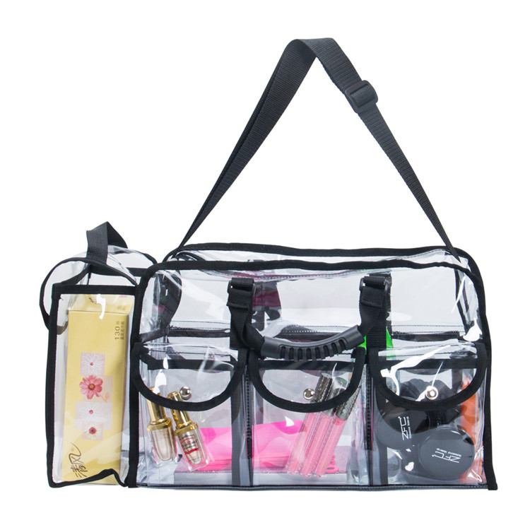 Koncai Lightweight Clear Plastic With Metal Zipper Makeup Bag