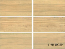 China porcelain yellow non-slip commercial restaurant office wooden marble floor tile (450x900mm)