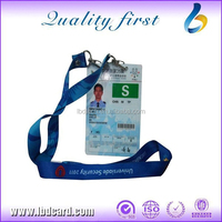 CMYK Printing EM4200 TK4100 T5577 PVC Photo ID Card with Hole and Rope